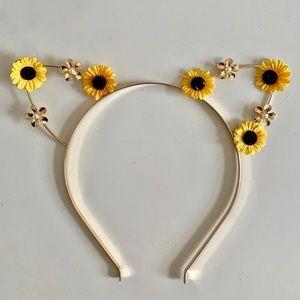 Sunflower Kitty sears Headband Gold